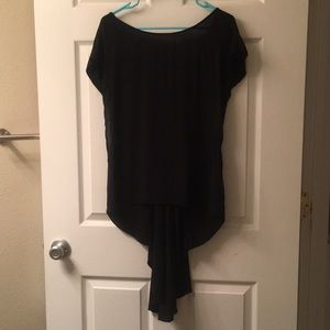 High Low Top Shop Black Tunic with Sheer Sides